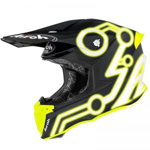 Casco de motocross y enduro airoh twist 2.0 NEON 2020 amarillo mate